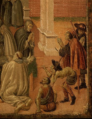 Monks and Beggars From an Altarpiece by Sebastiano di Cola da Casentino 15th c