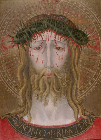Christ Crowned with Thorns by School of Benedetto Bonfigli