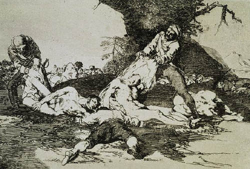 The Disasters of War Series: They Avail Themselves by Francisco Jose de Goya y Lucientes