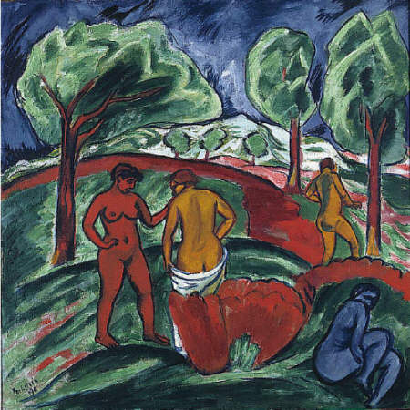 Max Pechstein. Day of Steel (Bathers) 1911