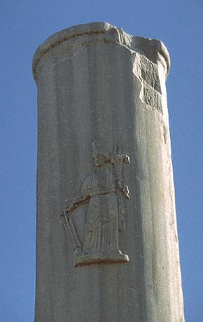 Column with relief of Tyche