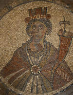 Byzantine Mosaic of Tyche, 6th century