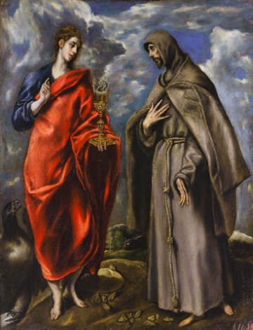 Saint John the Evangelist and Saint Francis by El Greco 1600