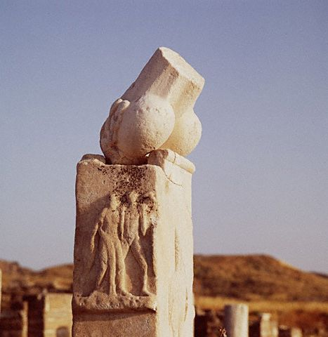 The Stump of Giant Phallus on Delos