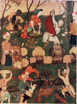 Miniature from Khamseh Manuscript 16th с