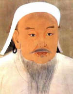 Portrait of Genghis Khan produced by a Chinese artist