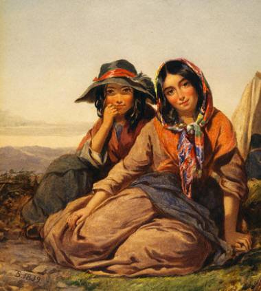 Gypsy Maidens by Thomas Sully 1839