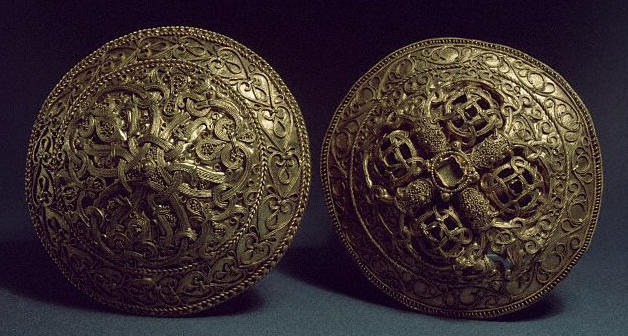 Viking Gold Brooches