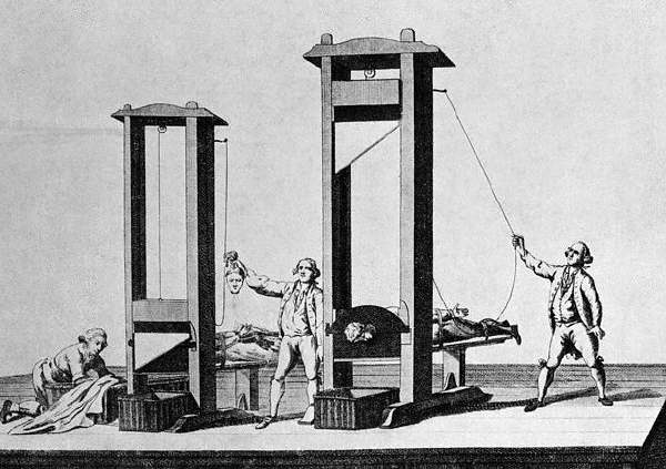 Shot of a Guillotine in Use