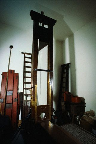 Guillotine in Fresnes Prison After Abolition of Death Penalty
