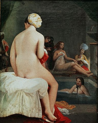 The Small Bather, Interior of the Harem by Jean Auguste Dominique Ingres 1828