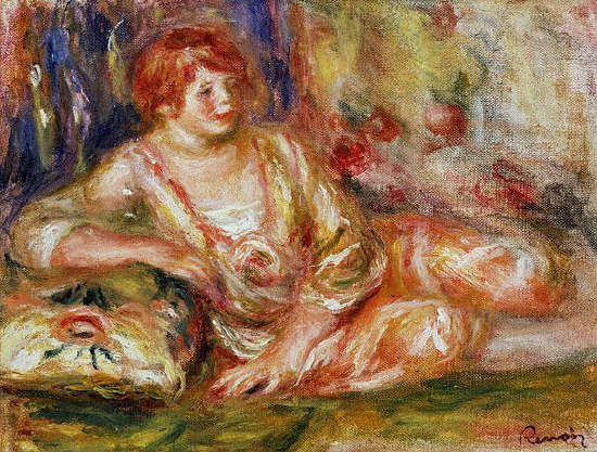 Reclining Odalisque by Pierre Auguste Renoir 1917-1919