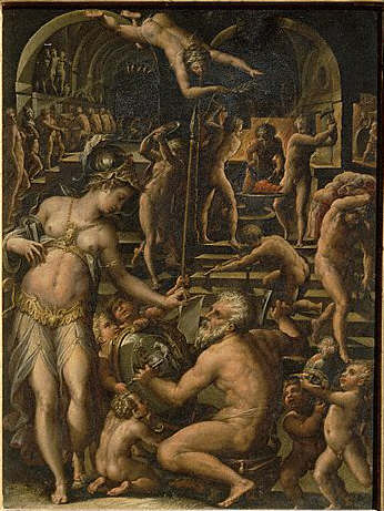 The Forge of Vulcan by Giorgio Vasari 16th century