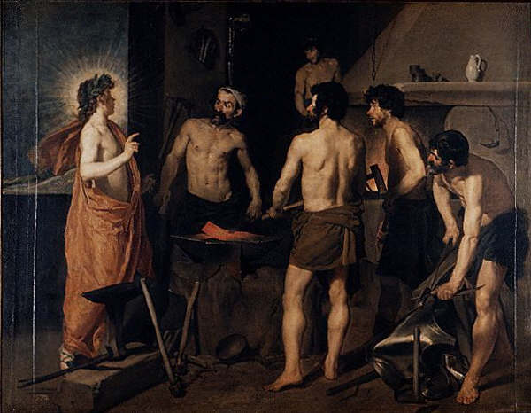 Apollo at the Forge of Vulcan by Diego Rodriguez de Silva y Velazquez 1630