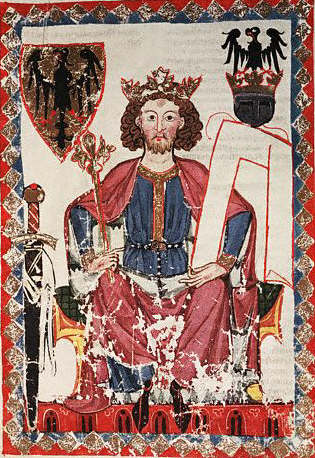 Portrait of Henry VI in the Codex Manessa 1305-1340
