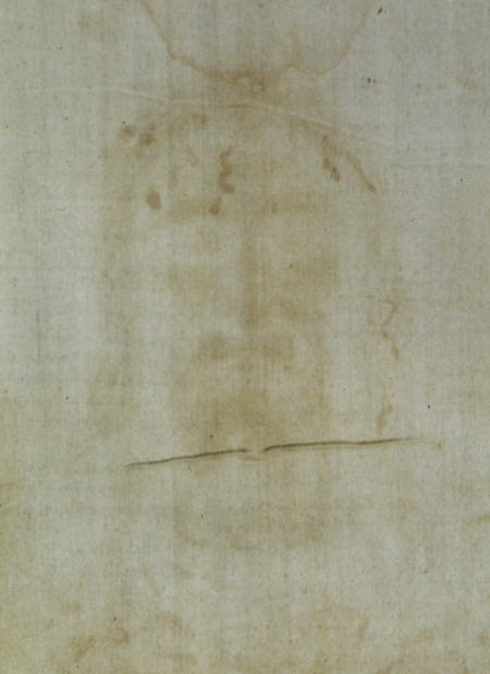 Holy shroud. Positive images of the face