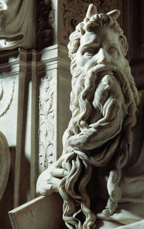 Detail from Moses by Michelangelo