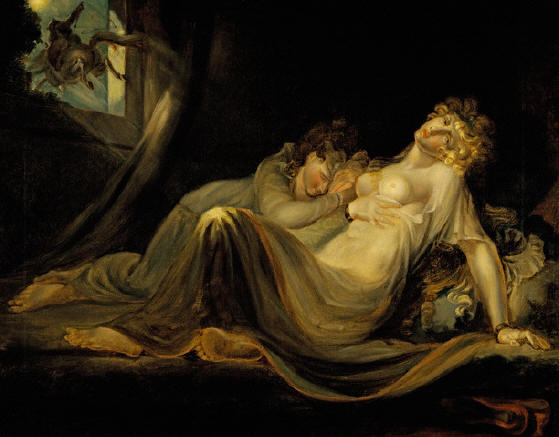 An Incubus Leaving Two Sleeping Women by Henry Fuseli.