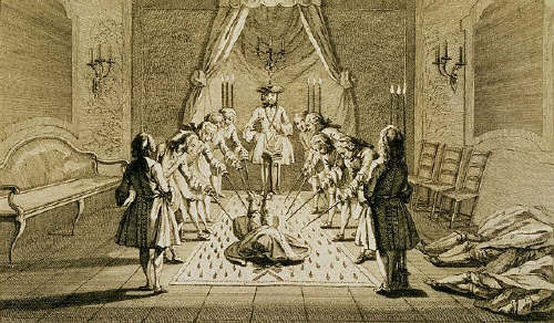 Assembly of Free Masons for the Initiation of a Master