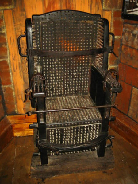 "The ""holy"" inquisition chair"