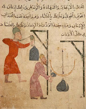 Fatimid Illustration of the Weighing of Goods 10th-12th c