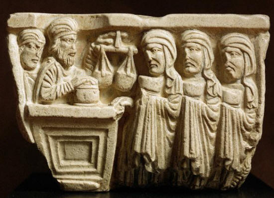 Romanesque Capital Depicting a Perfume and Ointment Shop 12th century
