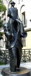 Monument for Franz Kafka in Prag