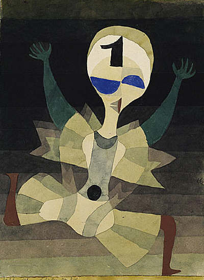 Runner at the Goal by Paul Klee, 1921