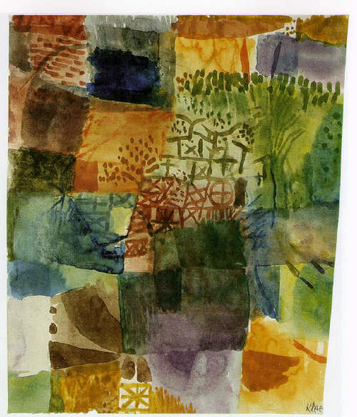 Remembrance of a Garden  by Paul Klee 1914