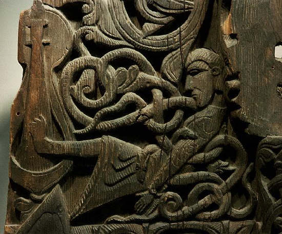 Hylestad stave church portal door, Setesdal, Norway (the story of Sigurd)