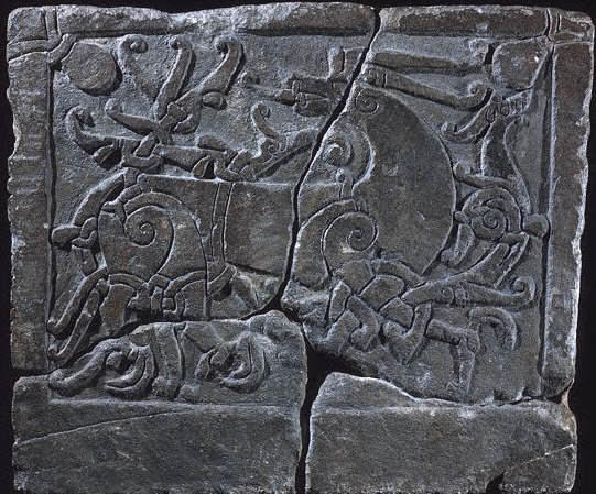Viking Tombstone showing а Dragon