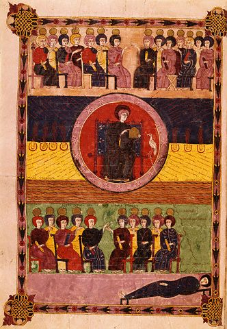 God Enthroned and Twenty-Four Elders from the Beatus of Liebana 1047