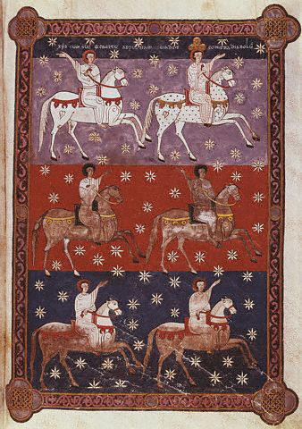 Six Riders on Horseback from the Beatus of Liebana 1047