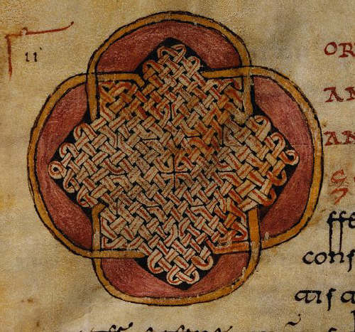 Mozarabic Miniature Painting Depicting Knotwork from a Liber Ordinum 1052