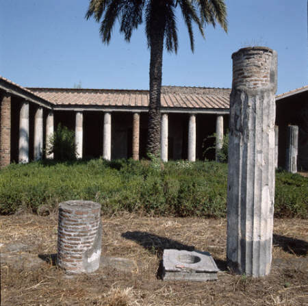 Courtyard of the House of the Labyrinth at Pompeii