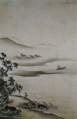 from Eight Views of the Xiao and Xiang Rivers by Shokei 15th c
