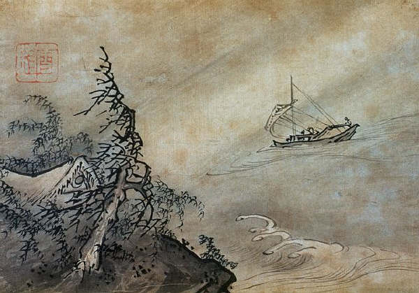 Wind and Waves by Shukei Sesson 16th c