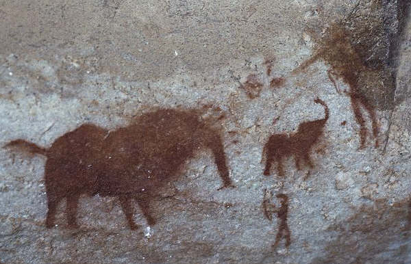 Ancient Cave Painting, South Africa