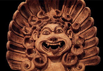 Medusa head from temple in southern sanctury at Veii