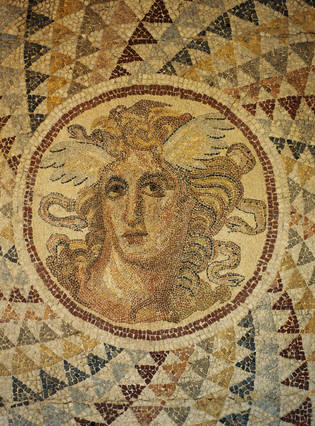 Ancient Greek Mosaic of Medusa