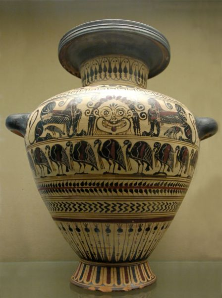 Lakonian black-figured hydria with a gorgon's head