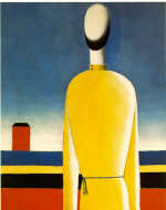 Complex Presentiment. Half-Figure in a Yellow Shirt by K. Malevich 1928