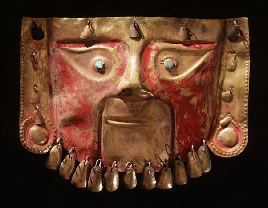 Chimu Gold Funerary Mask