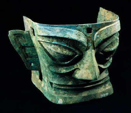 Shang Dynasty Bronze Face Mask