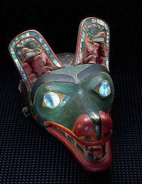 Haida Mask in the Form of a Wolf Face