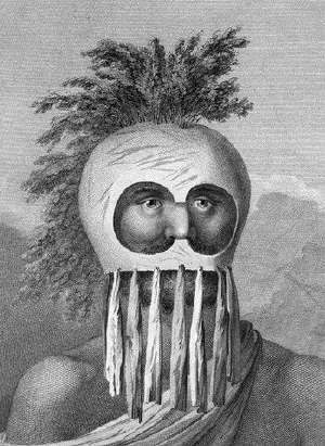 A Man of the Sandwich Islands in a Mask 1723