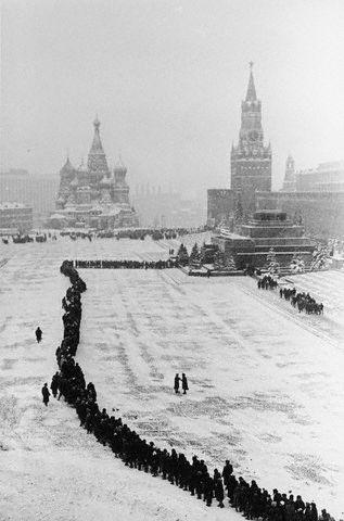 Line at Lenin's Tomb 1961