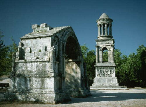 Roman Mausoleum and Arch at St.-Remy-de-Provence, France
