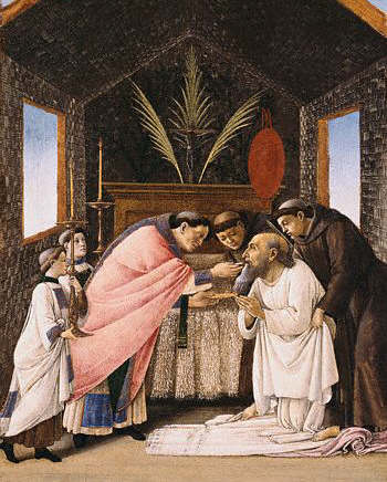 The Last Communion of St. Jerome by Sandro Botticelli. Before 1502