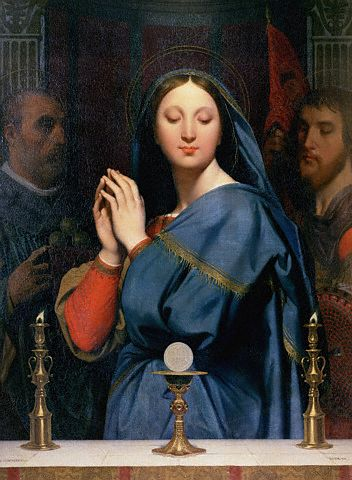 The Virgin of the Host by Jean Auguste Dominique Ingres 1841